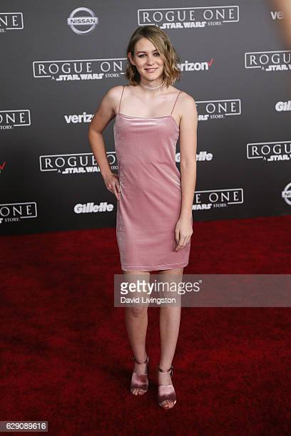 Actress Ryan Simpkins arrives at the premiere of Walt Disney Pictures and Lucasfilm's 'Rogue One A Star Wars Story' at the Pantages Theatre on...