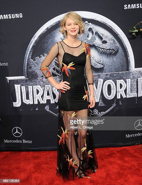 Actress Ryan Simpkins arrives for the Premiere Of Universal Pictures' 'Jurassic World' held in the courtyard of Hollywood Highland on June 9 2015 in...