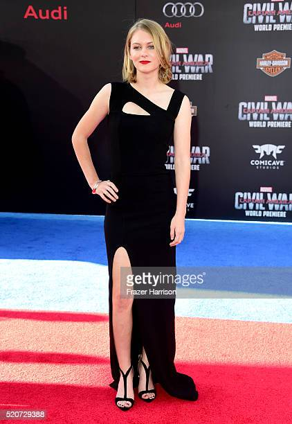 Actress Ryan Simpkins attends the premiere of Marvel's 'Captain America Civil War' at Dolby Theatre on April 12 2016 in Los Angeles California