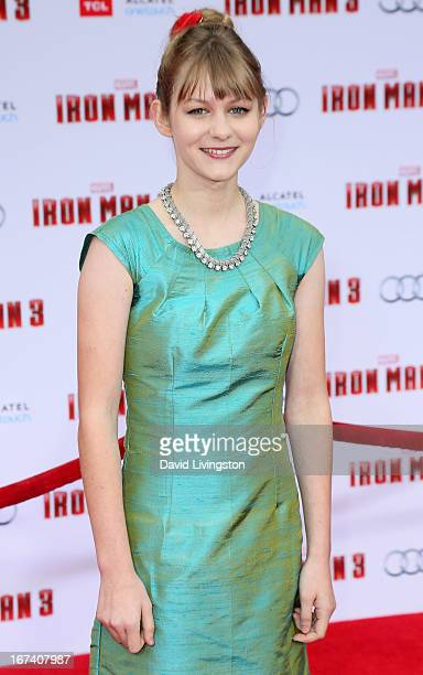 Actress Ryan Simpkins attends the premiere of Walt Disney Pictures' 'Iron Man 3' at the El Capitan Theatre on April 24 2013 in Hollywood California