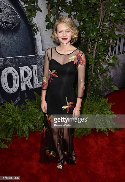 Actress Ryan Simpkins attends the Universal Pictures' 'Jurassic World' premiere at the Dolby Theatre on June 9 2015 in Hollywood California