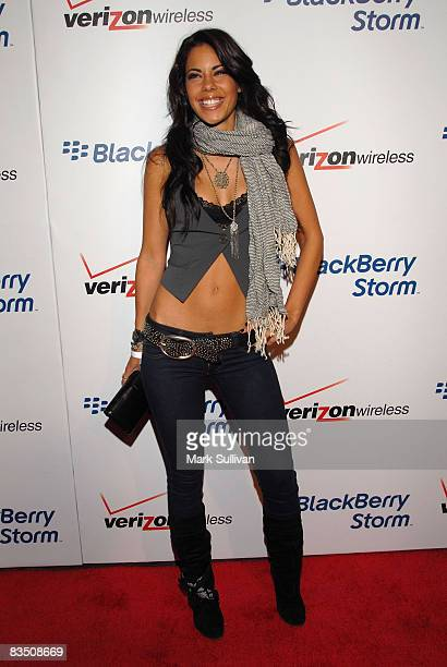 Actress Ryan Starr arrives at the Blackberry Storm Launch at the Avalon on October 29, 2008 in Hollywood, California.