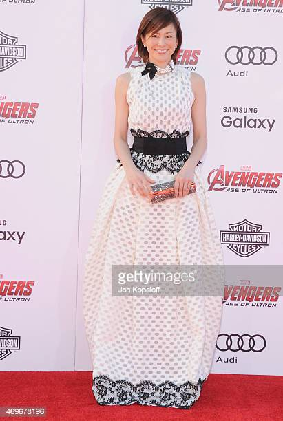 """Actress Ryoko Yonekura arrives at the Los Angeles Premiere Marvel's """"Avengers Age Of Ultron"""" at Dolby Theatre on April 13, 2015 in Hollywood,..."""