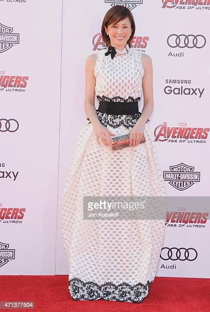 Actress Ryoko Yonekura arrives at the Los Angeles Premiere Marvel's 'Avengers Age Of Ultron' at Dolby Theatre on April 13 2015 in Hollywood California
