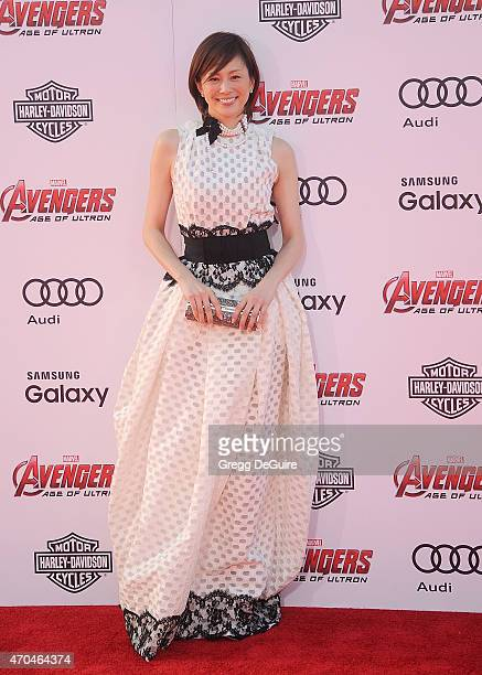 """Actress Ryoko Yonekura arrives at the Los Angeles premiere of Marvel's """"Avengers: Age Of Ultron"""" at Dolby Theatre on April 13, 2015 in Hollywood,..."""