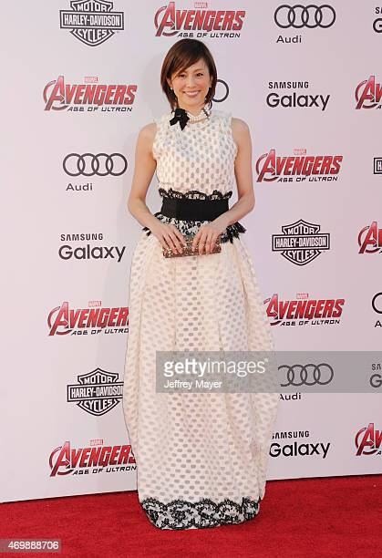 Actress Ryoko Yonekura arrives at the Marvel's 'Avengers: Age Of Ultron' - Los Angeles Premiere at Dolby Theatre on April 13, 2015 in Hollywood,...