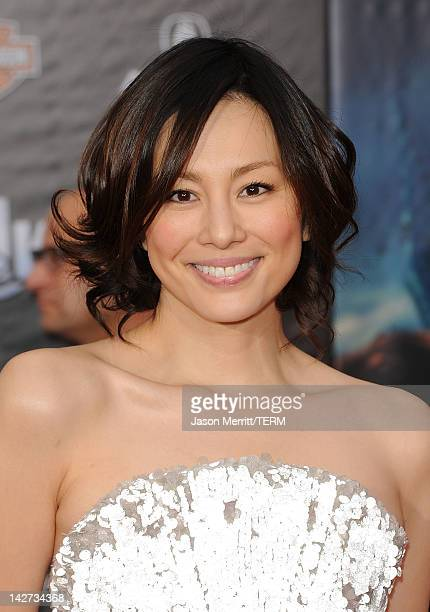 Actress Ryoko Yonekura arrives at the premiere of Marvel Studios' 'The Avengers' at the El Capitan Theatre on April 11 2012 in Hollywood California