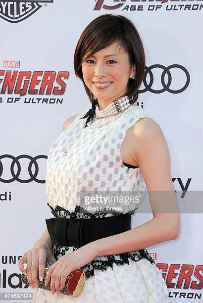 """Actress Ryoko Yonekura arrives for the Premiere Of Marvel's """"Avengers Age Of Ultron"""" held at Dolby Theatre on April 13, 2015 in Hollywood, California."""