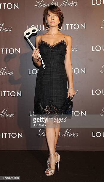 """Actress Ryoko Yonekura attends Louis Vuitton """"Timeless Muses"""" exhibition at the Tokyo Station Hotel on August 29, 2013 in Tokyo, Japan."""