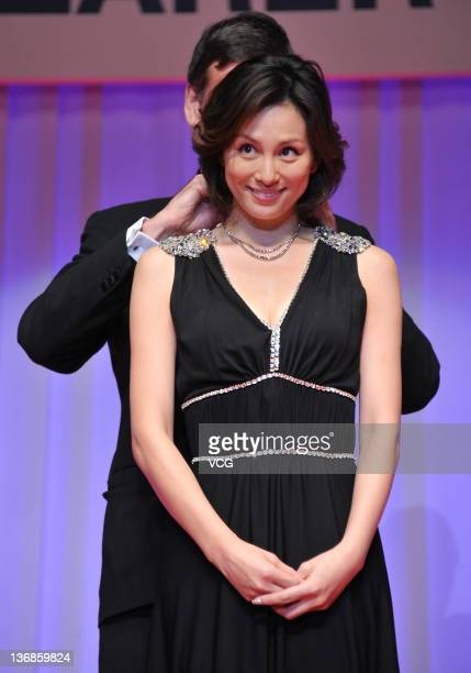 Actress Ryoko Yonekura attends the 23rd Japan Best Jewellery Wearer Awards at Tokyo Big Sight on January 11 2012 in Tokyo Japan