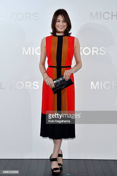 Actress Ryoko Yonekura attends the opening event for the Michael Kors Ginza Flagship Store on November 20, 2015 in Tokyo, Japan.