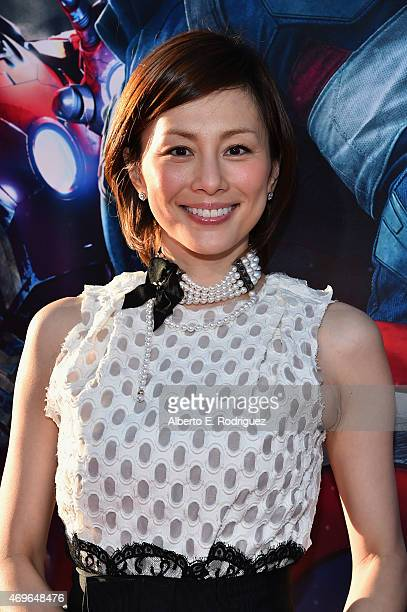 """Actress Ryoko Yonekura attends the world premiere of Marvel's """"Avengers: Age Of Ultron"""" at the Dolby Theatre on April 13, 2015 in Hollywood,..."""