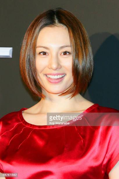 Actress Ryoko Yonekura poses during the 'Tokyo Underground Night' party at Yamate Tunnel on December 5 2007 in Tokyo Japan Nissan launches the new...