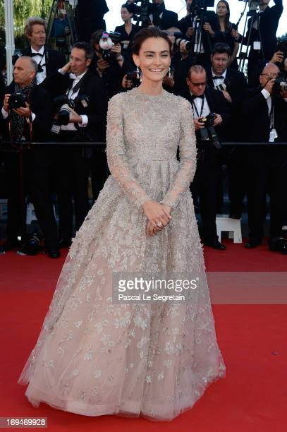 Actress Saadet Aksoy attends the 'La Venus A La Fourrure' premiere during The 66th Annual Cannes Film Festival at the Palais des Festivals on May 25...
