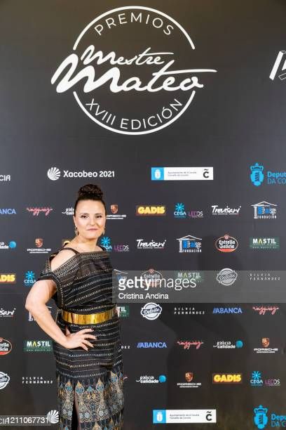 Actress Saamira Ganay attends the Mestre Mateo Awards in A Coruna on March 07 2020 in A Coruna Spain