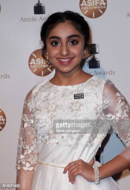 Actress Saara Chaudry attends the 45th Annual Annie Awards at Royce Hall on February 3 2018 in Los Angeles California