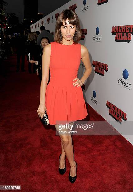 Actress Sabina Akhmedova arrives at the premiere of Open Road Films' Machete Kills at Regal Cinemas LA Live on October 2 2013 in Los Angeles...