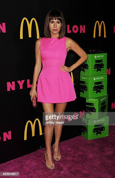 Actress Sabina Akhmedova attends NYLON McDonald's Dec/Jan issue launch party hosted by cover star Demi Lovato at Quixote Studios on December 5 2013...
