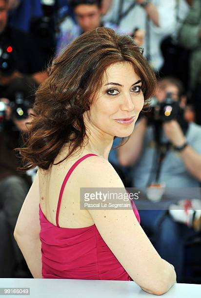 Actress Sabina Guzzanti attends the 'Draquila Italy Trembles' Photocall at the Palais des Festivals during the 63rd Annual Cannes Film Festival on...