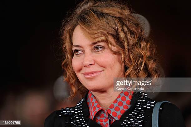 Actress Sabina Guzzanti attends the Franca La Prima premiere during the 6th International Rome Film Festival on October 31 2011 in Rome Italy