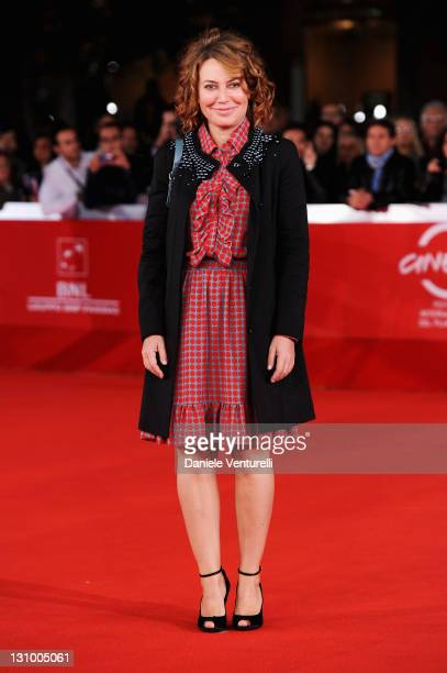 Actress Sabina Guzzanti attends the Franca La Prima Premiere during the 6th International Rome Film Festival at Auditorium Parco Della Musica on...