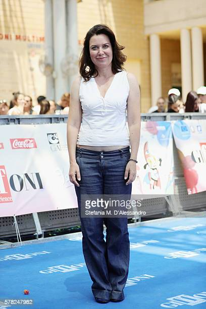 Actress Sabina Guzzanti attends the Giffoni Film Festival photocall on July 21 2016 in Giffoni Valle Piana Italy