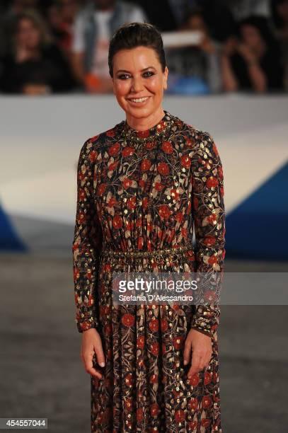 Actress Sabina Guzzanti attends the 'La Trattativa' Premiere during the 71st Venice Film Festival on September 3 2014 in Venice Italy