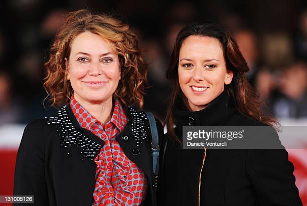 Actress Sabina Guzzanti with her sister Caterina Guzzanti attend the Franca La Prima Premiere during the 6th International Rome Film Festival at...