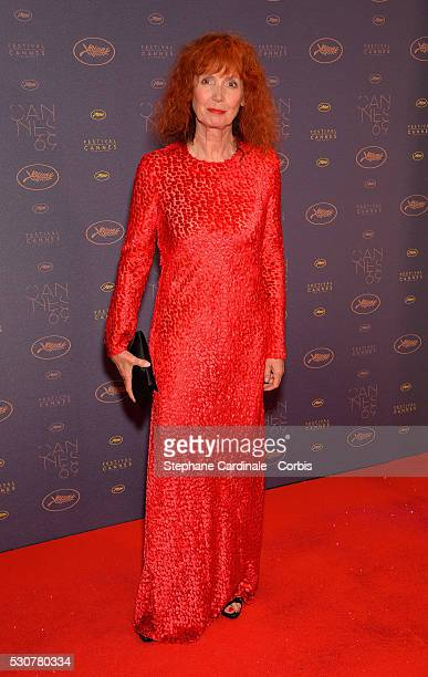 Actress Sabine Azema arrives at the Opening Gala Dinner during the 69th Annual Cannes Film Festival on May 11, 2016 in Cannes, France.