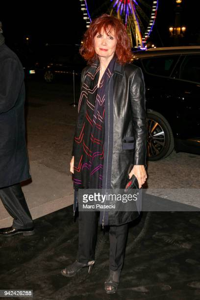 Actress Sabine Azema arrives to attend the 'Madame Figaro' dinner at Automobile Club de France on April 5 2018 in Paris France
