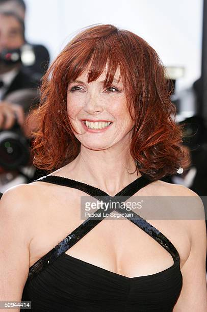Actress Sabine Azema attends the screening of Peindre Ou Faire L'Amour at the Palais during the 58th International Cannes Film Festival May 18 2005...