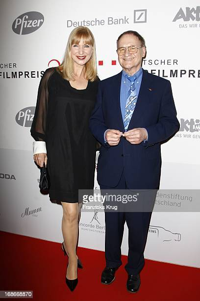 Actress Sabine Kaack And Dr Helmut Sorensen at the Ceremony Of The 10th German hearing impaired film at the atrium of the Deutsche Bank in Berlin