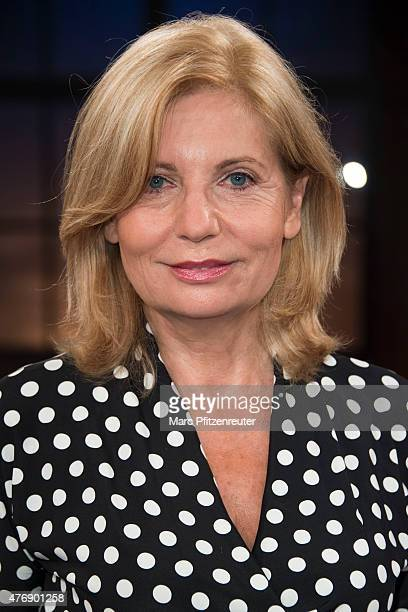 Actress Sabine Postel attends the 'Koelner Treff' TV Show at the WDR Studio on June 12 2015 in Cologne Germany