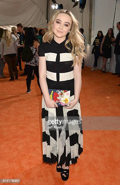 Actress Sabrina Carpenter attends Nickelodeon's 2016 Kids' Choice Awards at The Forum on March 12 2016 in Inglewood California