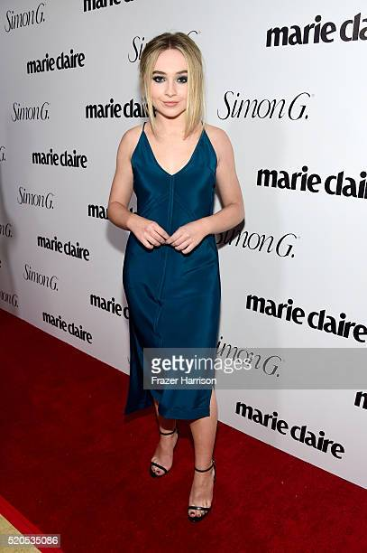 Actress Sabrina Carpenter attends the 'Fresh Faces' party hosted by Marie Claire celebrating the May issue cover stars on April 11 2016 in Los...
