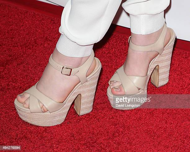 Actress Sabrina Carpenter shoe detail attends the Elizabeth Glaser Pediatric AIDS Foundation's 26th A Time for Heroes Family Festival at Smashbox...