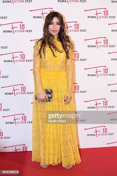 Actress Sabrina Impacciatore arrives on the red carpet for Immaturi La Serie during the 2016 Rome Fiction Fest.