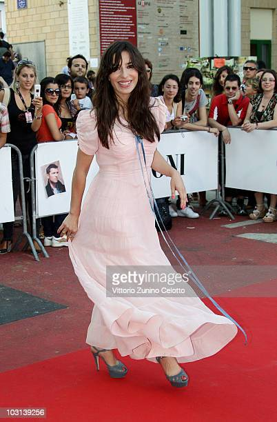 Actress Sabrina Impacciatore arrives to attend the meeting with the jury during Giffoni Experience 2010 on July 28 2010 in Giffoni Valle Piana Italy