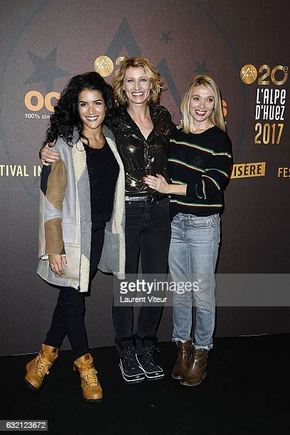 Actress Sabrina Ouazani Actress Alexandra Lamy and Actress Anne Marivin attend 'Sous le Meme Toit' Photocall during tne 20th L'Alpe D'Huez...
