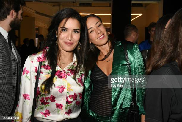 Actress Sabrina Ouazani and TV presenter Janane Boudil France 2 attend YSL Beauty Party During Paris Fashion Week Menswear Fall/Winter 20182019 on...