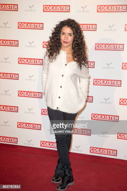 Actress Sabrina Ouazani attends 'Coexister' Paris Premiere at Le Grand Rex on September 25 2017 in Paris France