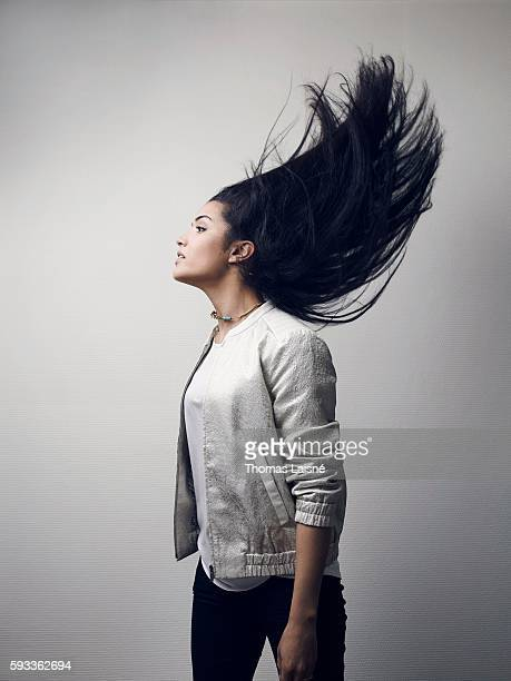 Actress Sabrina Ouazani is photographed for Self Assignment on April l24 2014 in Paris France