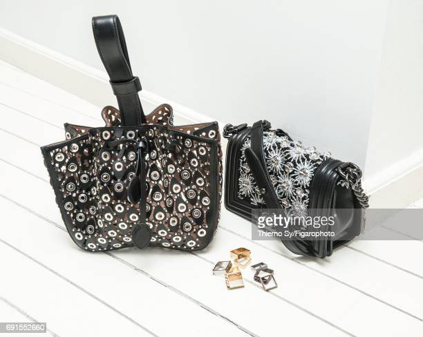 Actress Sabrina Ouazani's style inspirations are photographed for Madame Figaro on February 1 2017 in Paris France Bag bag rings PUBLISHED IMAGE...