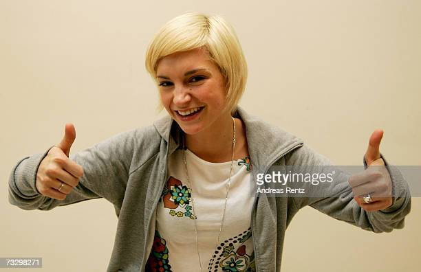 Actress Sabrina Reiter poses at the press conference for the Shooting Stars Award during the 57th Berlin International Film Festival on February 12,...