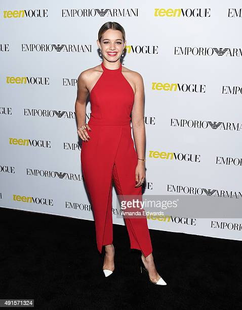 Actress Sadie Calvano arrives at Teen Vogue's 13th Annual Young Hollywood Issue Launch Party on October 2 2015 in Los Angeles California