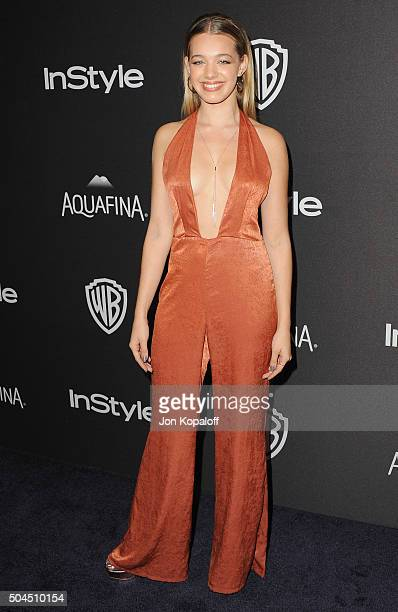 Actress Sadie Calvano arrives at the 2016 InStyle And Warner Bros. 73rd Annual Golden Globe Awards Post-Party at The Beverly Hilton Hotel on January...