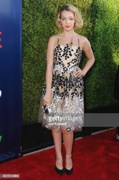 Actress Sadie Calvano arrives at the CBS, The CW, Showtime & CBS Television Distribution 2014 Television Critics Association Summer Press Tour at...