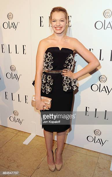 Actress Sadie Calvano arrives at the ELLE Women In Television Celebration at Sunset Tower on January 22, 2014 in West Hollywood, California.
