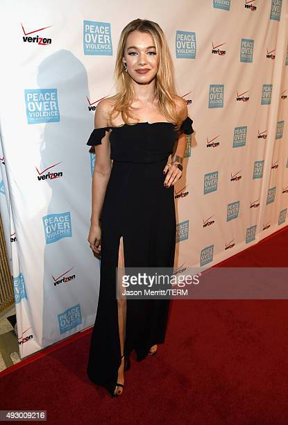 Actress Sadie Calvano attends The 44th Annual Peace Over Violence Humanitarian Awards at Dorothy Chandler Pavilion on October 16 2015 in Los Angeles...