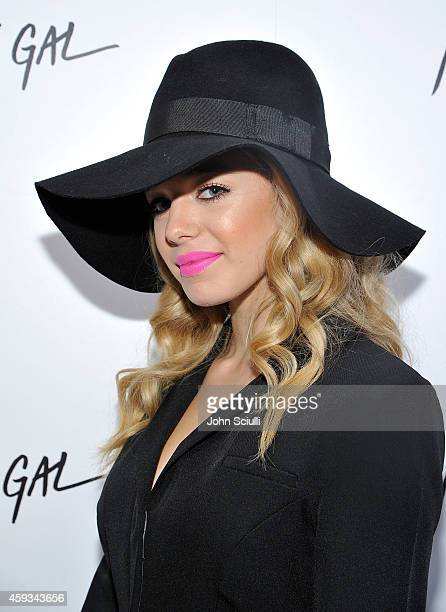 Actress Sadie Calvano attends the Nasty Gal Melrose Store Launch on November 20 2014 in Los Angeles California